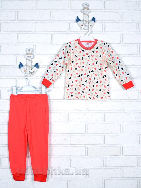 Пижама для девочки Татошка интерлок 01602 Сердечки