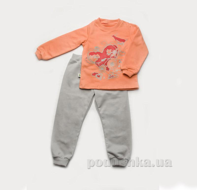 Пижама для девочки утепленная Модный карапуз 03-00611