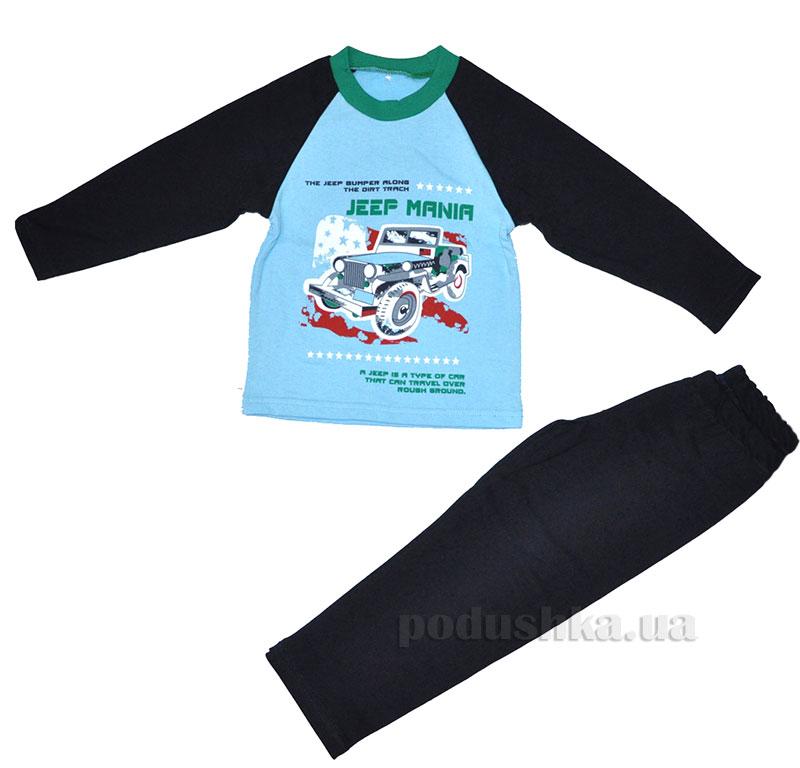 Пижама для мальчика МТФ 00415 П сине-бирюзовая