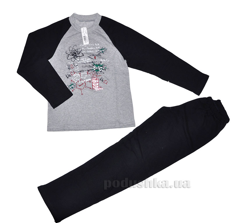 Пижама для мальчика МТФ 4424 П серая