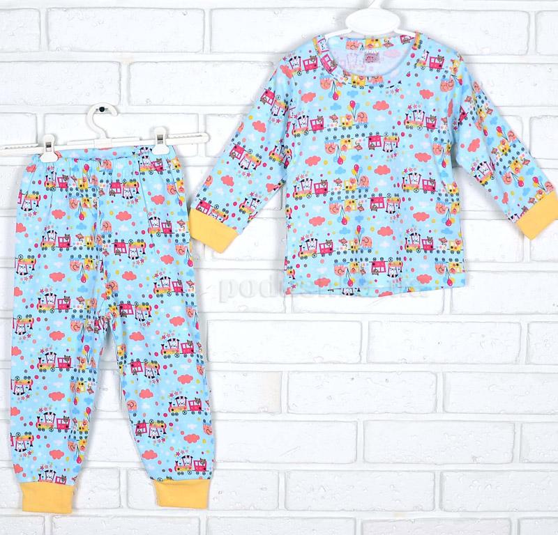 Пижама для мальчика Татошка интерлок 01602 Поезд