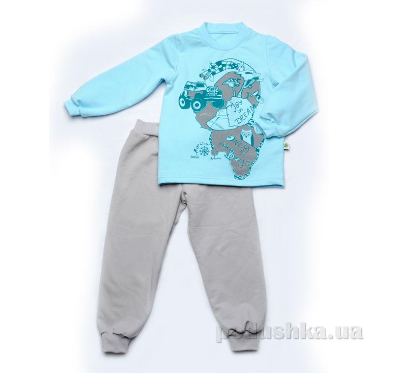 Пижама для мальчика утепленная Модный карапуз 03-00549