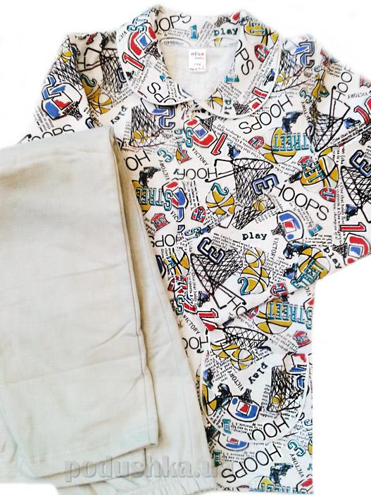 Пижама для мальчиков Серые Мячики ТМ Niso Baby 603Ab