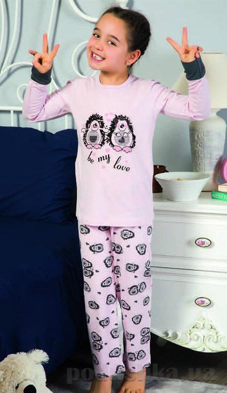 Пижама Elitol для девочек розовая 19070 с парочкой ежиков купить в ... 7ef65ef62c4be