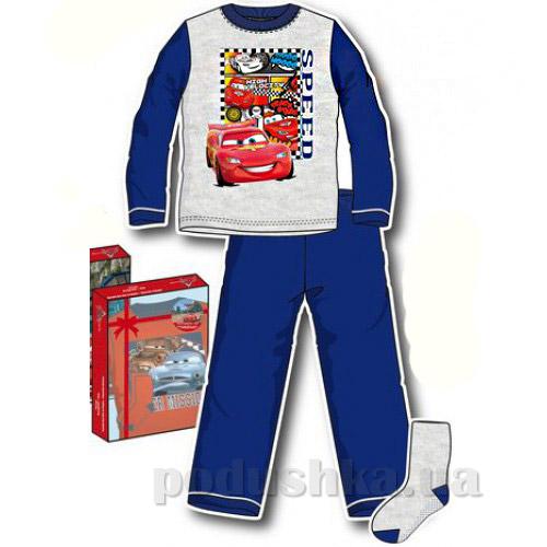 Пижама Машинки с носками в коробке Sun City HM2257grey