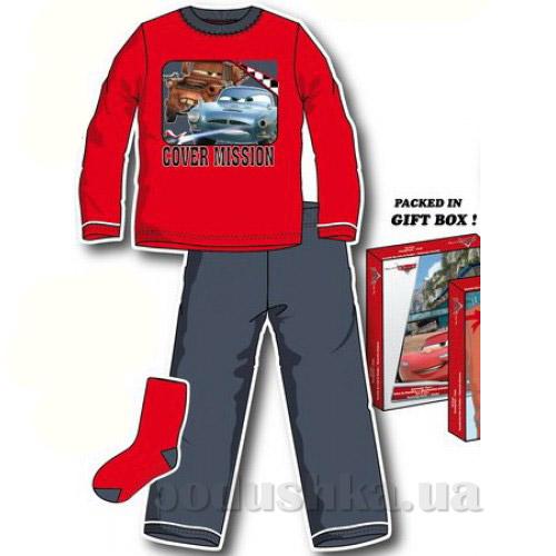 Пижама Машинки с носками в коробке Sun City HM2257red