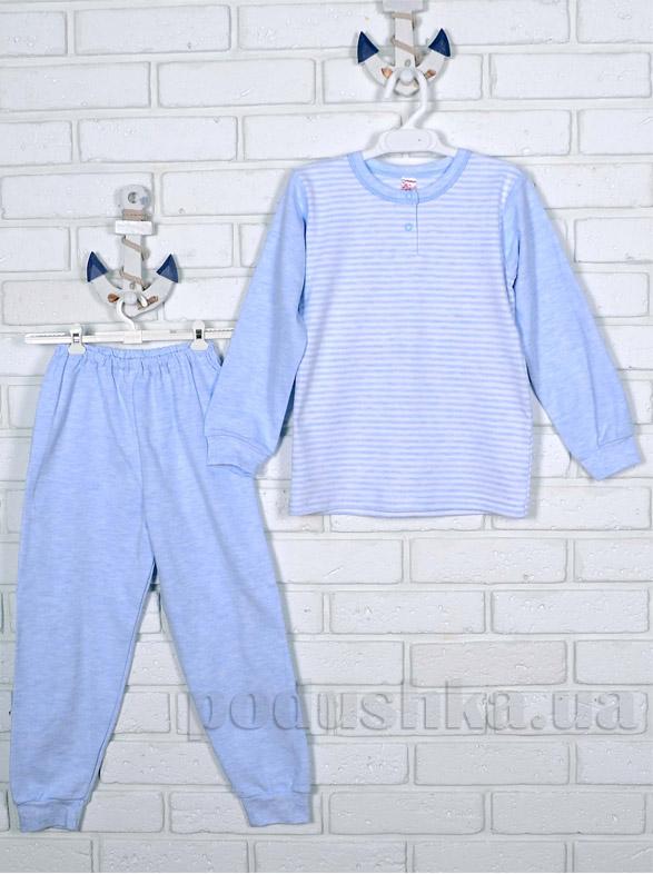 Пижама Татошка интерлок с подчесом 01902 голубая