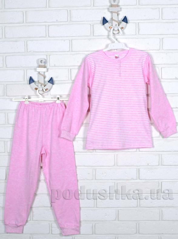 Пижама Татошка интерлок с подчесом 01902 розовая