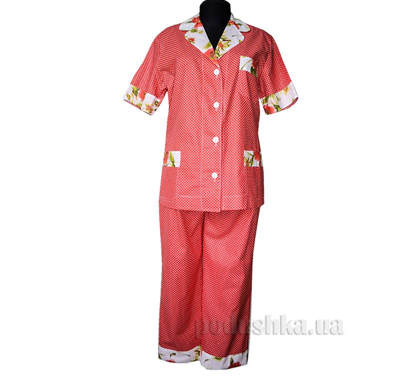 Пижама трикотажная Красный горох Santa Mirra