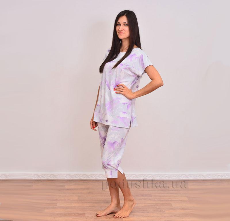 Пижама трикотажная Лиловые цветы Прованс
