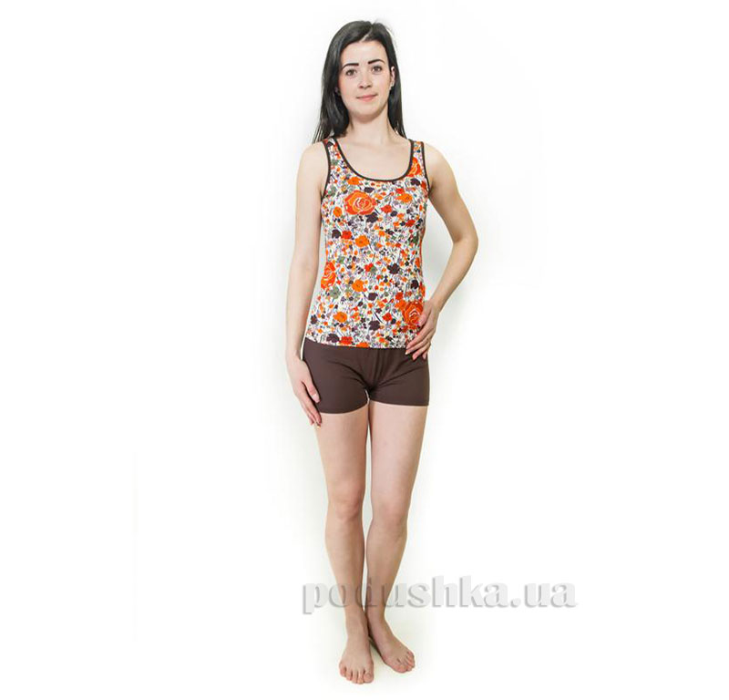 Пижама трикотажная Оранжевые цветы Santa Mirra