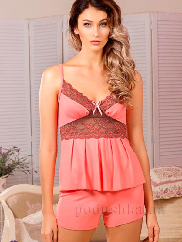 Пижама Violet delux М-26 персиковая