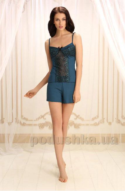 Пижама Violet delux П-М-31 синий топаз