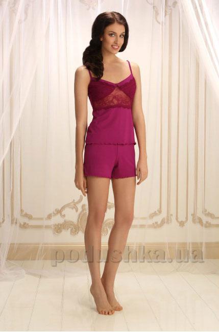 Пижама Violet delux П-М-32 марсала