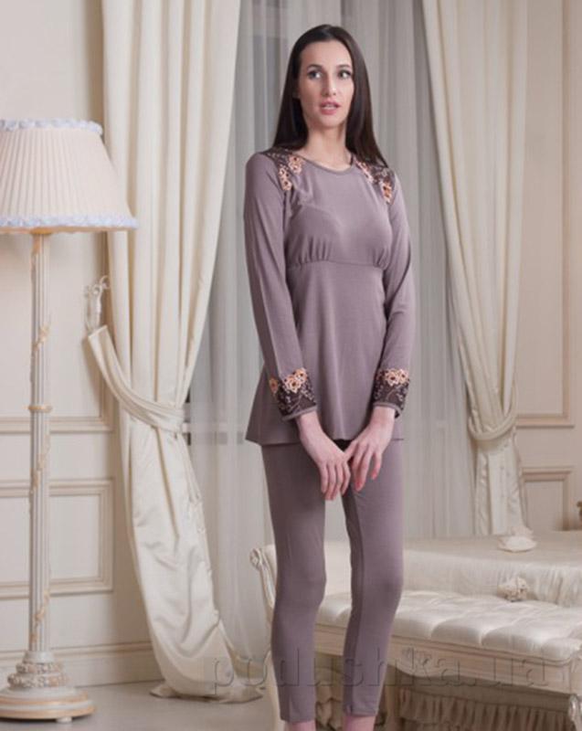 Пижама Violet delux П-М-41 мокко