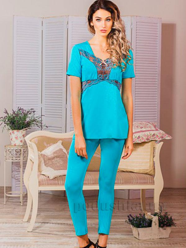 Пижама Violet delux П-М-42 бирюза