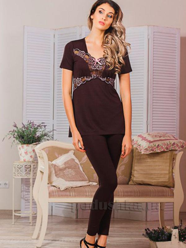 Пижама Violet delux П-М-42 шоколад
