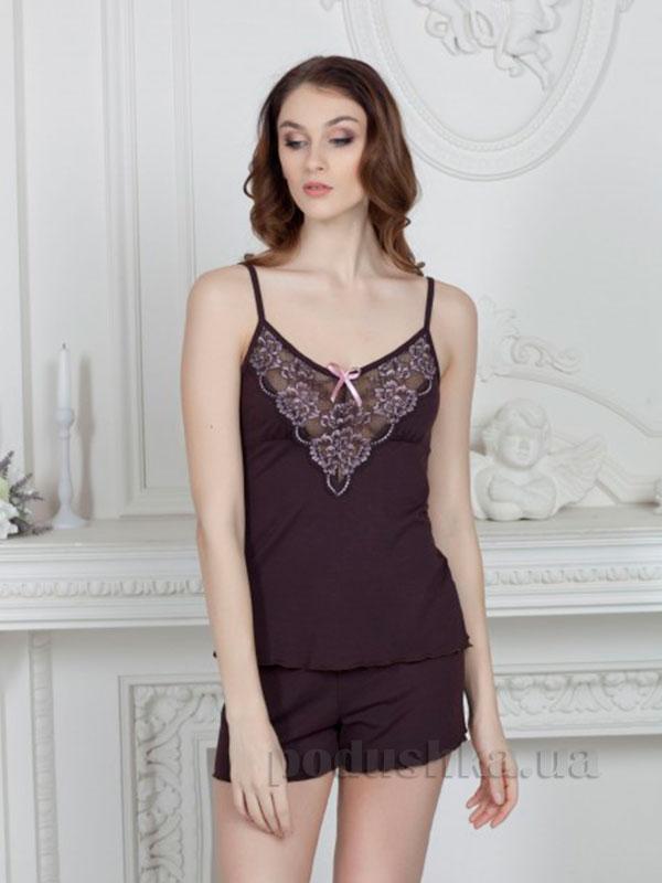 Пижама Violet delux П-М-43 шоколад