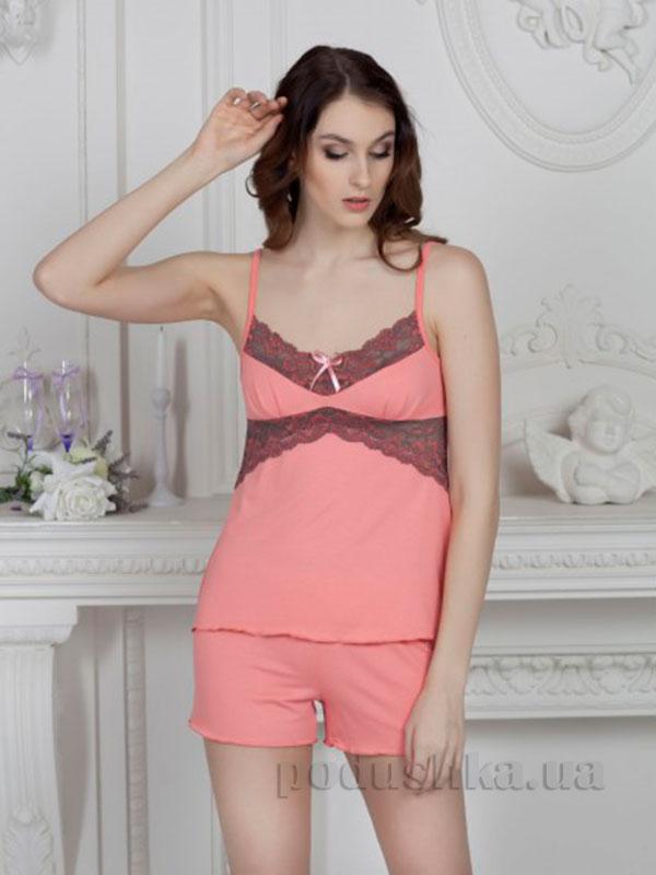 Пижама Violet delux П-М-45 персиковая