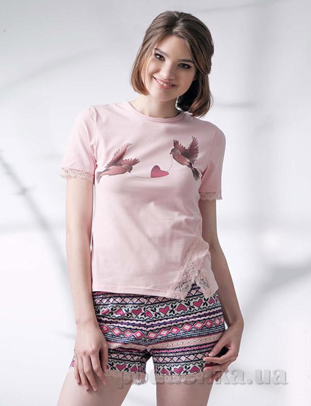 Пижама женская Ellen LNP 048/001 светло-розовая