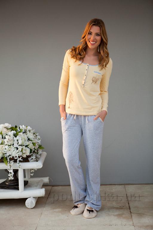 Пижама женская Hays 4162 желтая