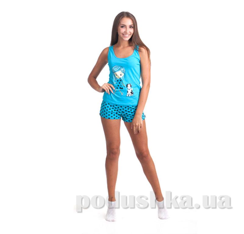 Пижама женская МТФ 01702ПВ голубая