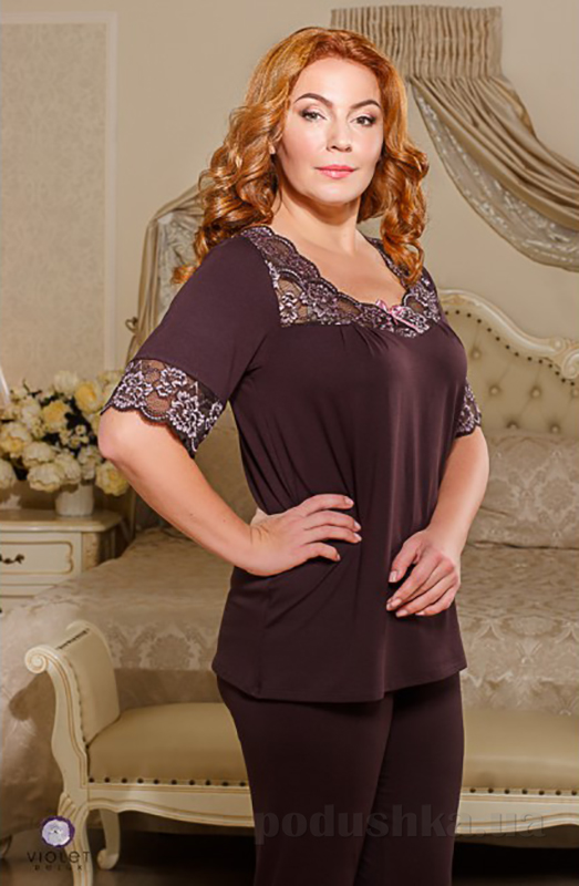 Пижама женская Violet delux П-М-44 шоколадный
