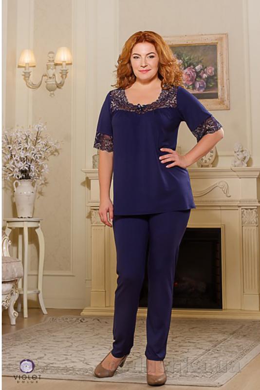 Пижама женская Violet delux П-М-44 синий
