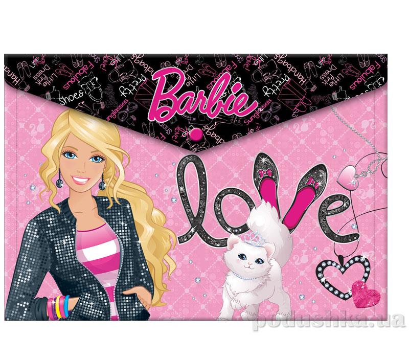 Пластиковая папка-конверт с застежкой Barbie