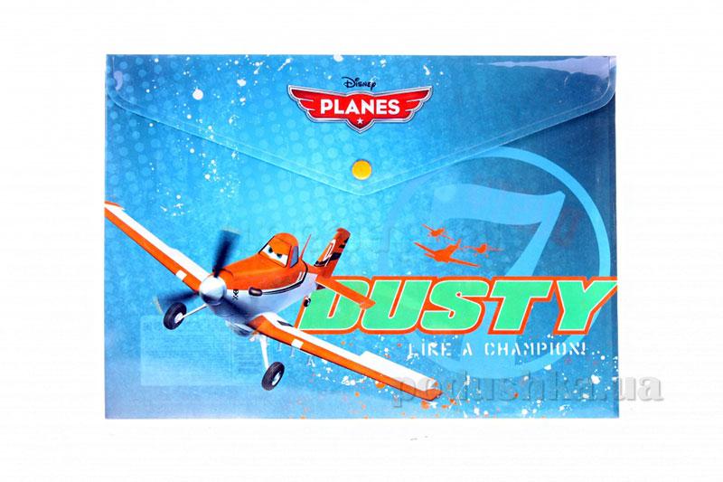 Пластиковая папка-конверт, с застежкой Planes Самолетики