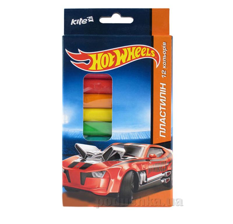 Пластилин мягкий 12 цветов Hot Wheels HW14-086K Kite