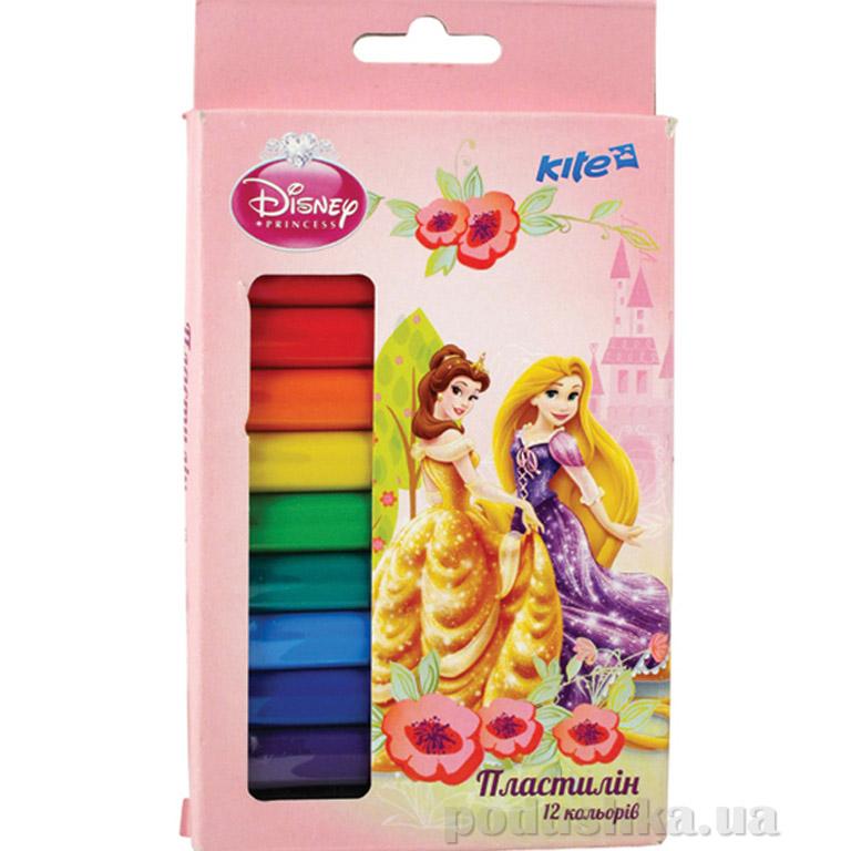 Пластилин мягкий 12 цветов Princess P13-086K Kite