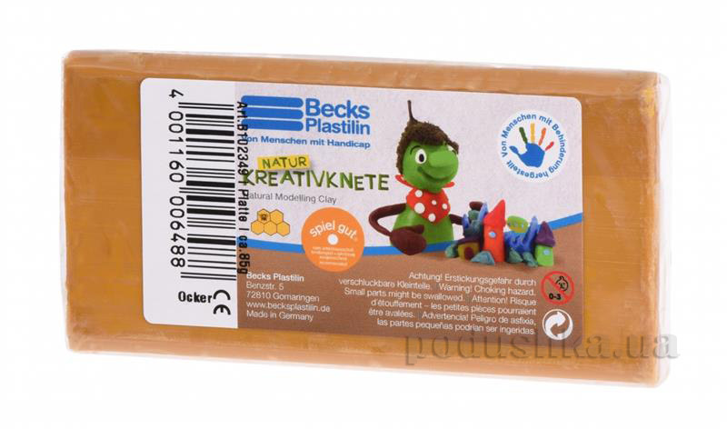 Пластилин восковой Becks Plastilin 86г охра B102349