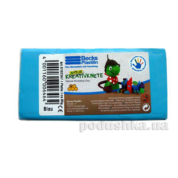 Пластилин восковой Becks Plastilin 86г синий B102347