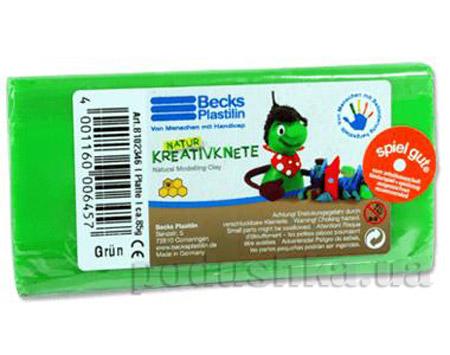 Пластилин восковой Becks Plastilin 86г зеленый B102346
