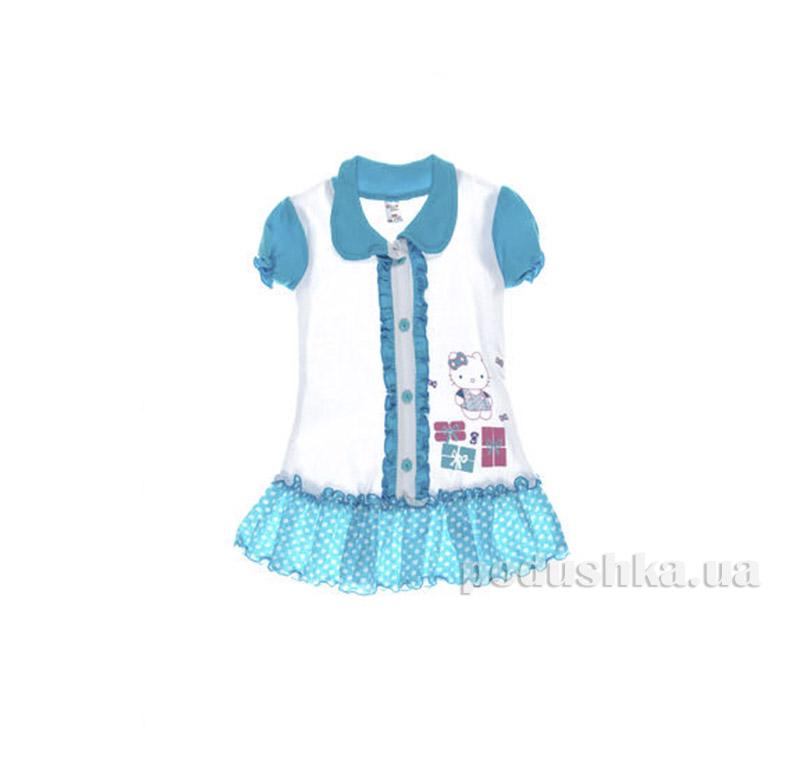Платье детское Niso Baby 1018 голубая