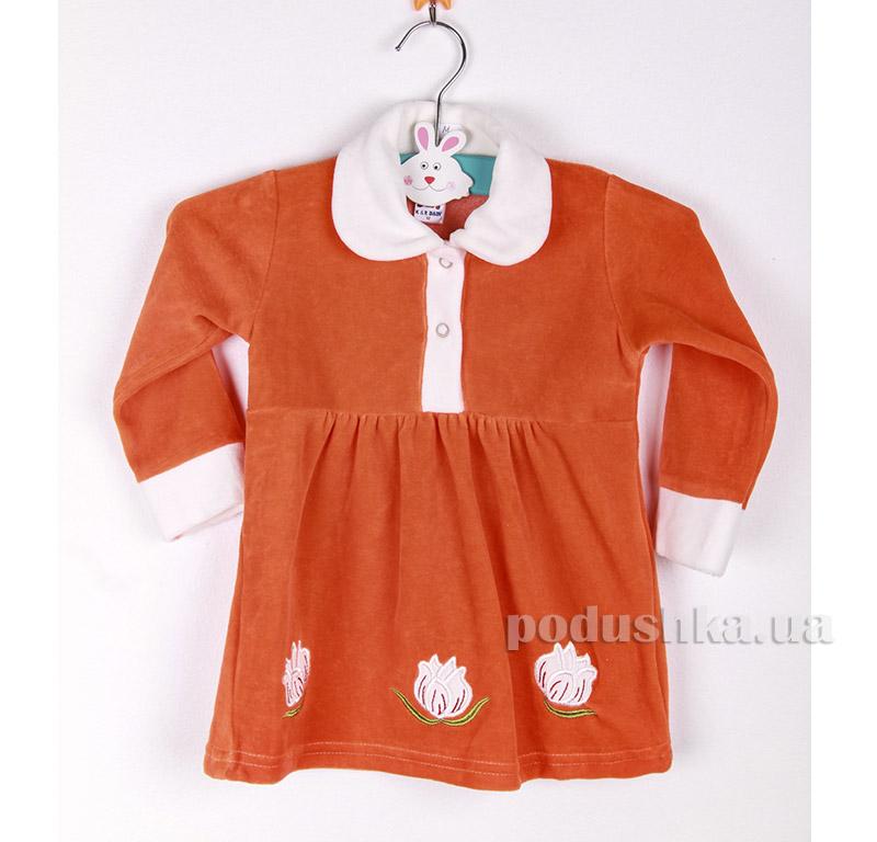 Платье детское Niso Baby VEL1430 оранжевое
