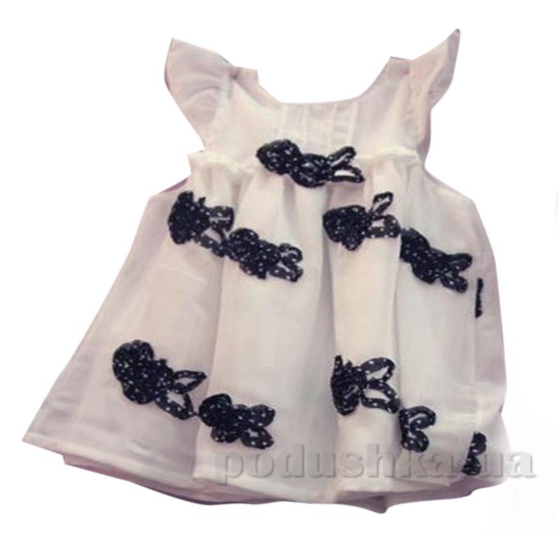 Платье для девочки Бантики шифоновое Baby Life 17-38