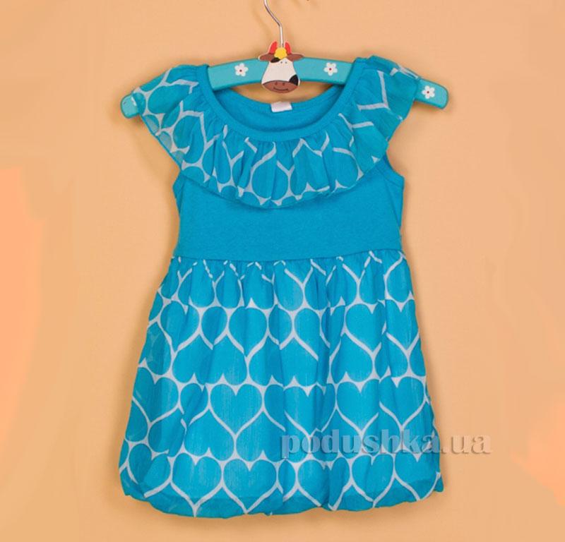 Платье для девочки Gloria Jeans 64604 голубое