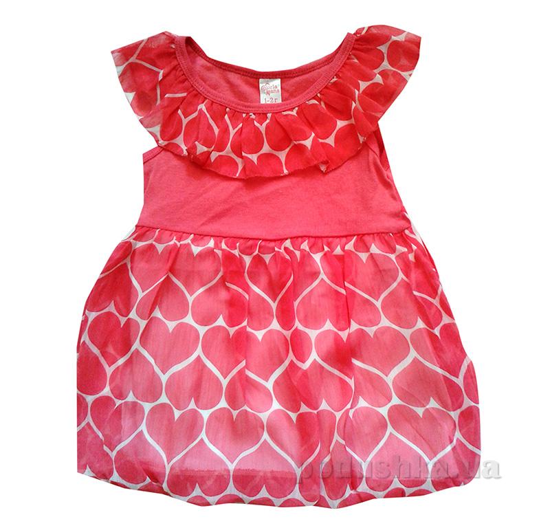 Платье для девочки Gloria Jeans 64604 красное