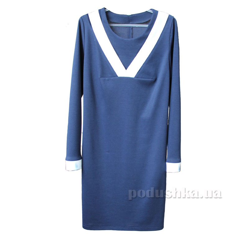 Платье для девочки Промiнь ДФ-1625. синее с молочным