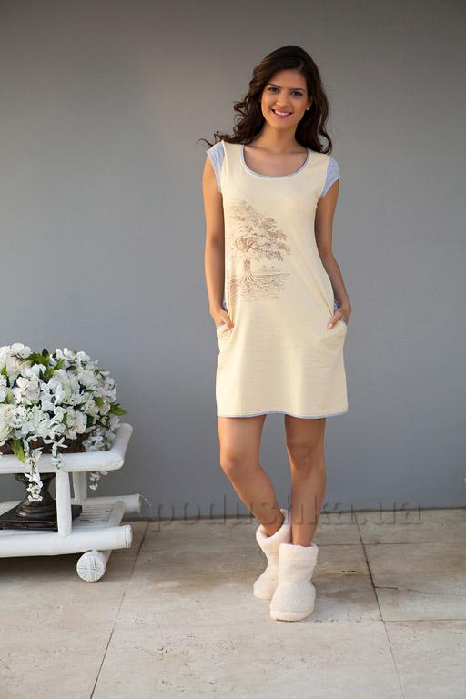 Платье домашнее Hays 4163 желтое