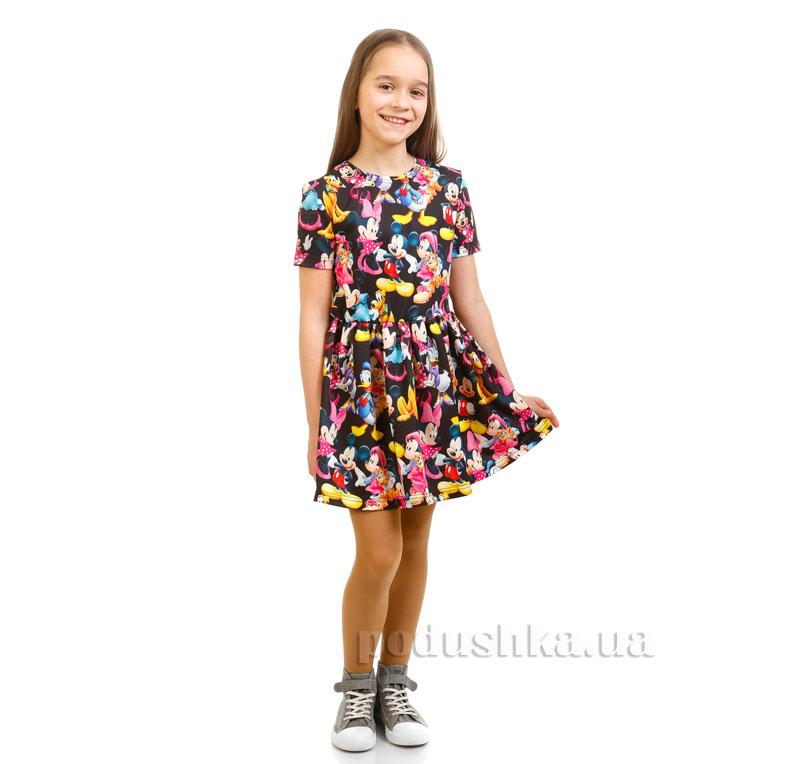 Платье Дональд Дак Kids Couture черное