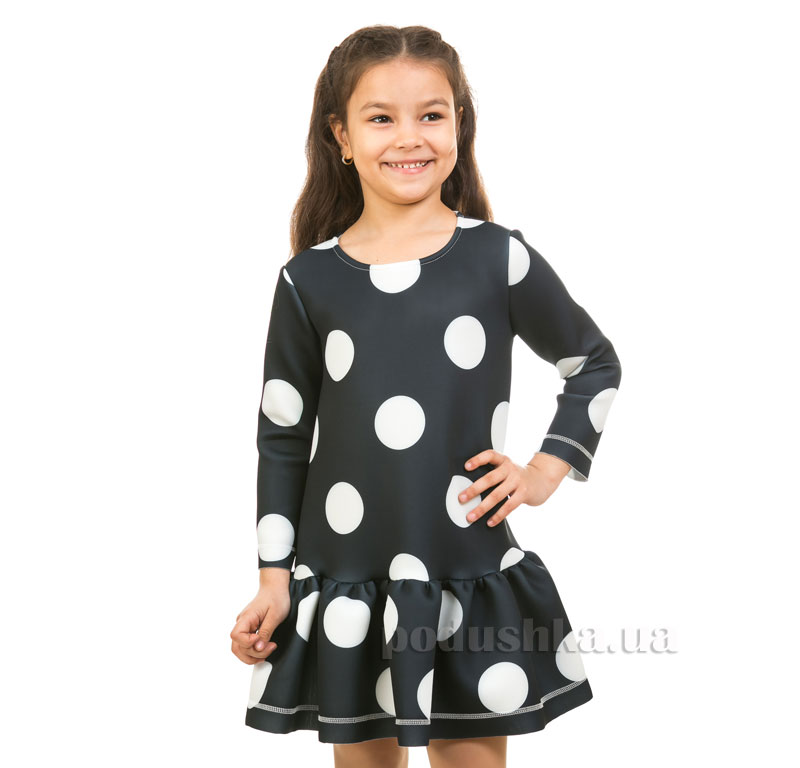 Платье Горох Kids Couture 17-229 темно-синее