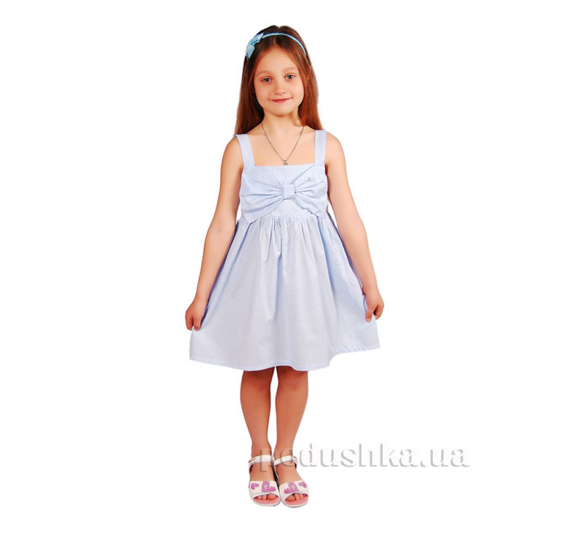 Платье Kids Couture 15-306 в голубой горох