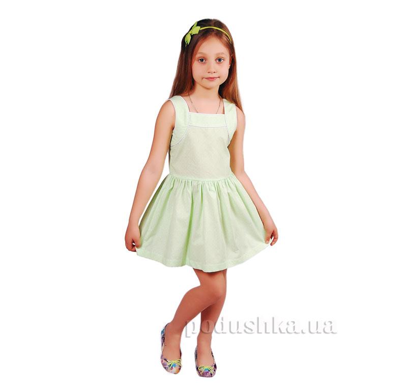 Платье Kids Couture 15-317 в салатовый горох