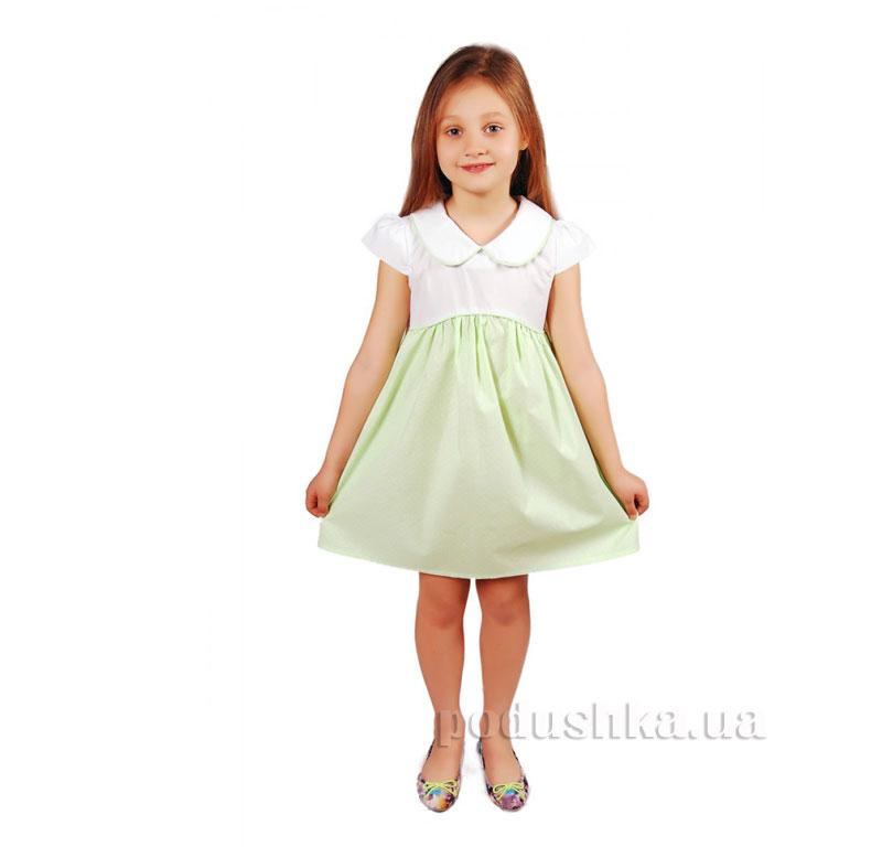 Платье Kids Couture 2015-4 в салатовый горох