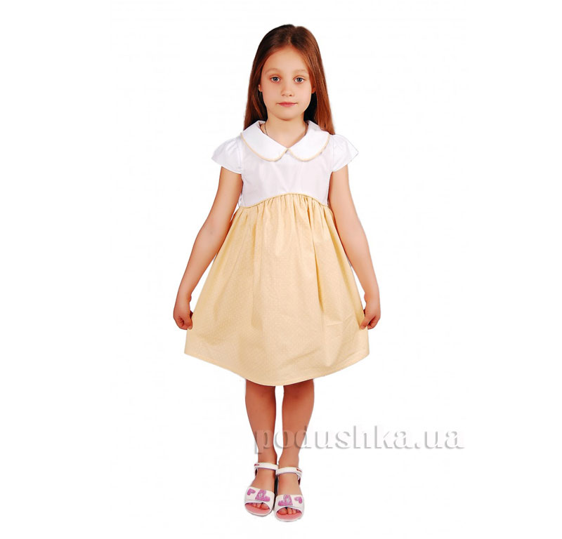 Платье Kids Couture 2015-4 в желтый горох