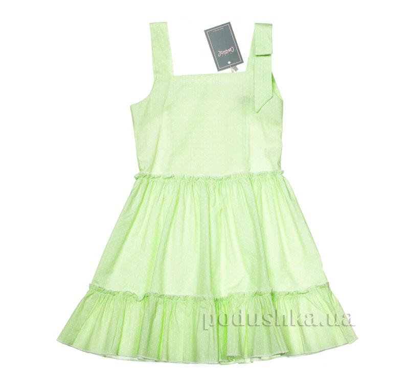 Платье Kids Couture 2015-90 в салатовый горох