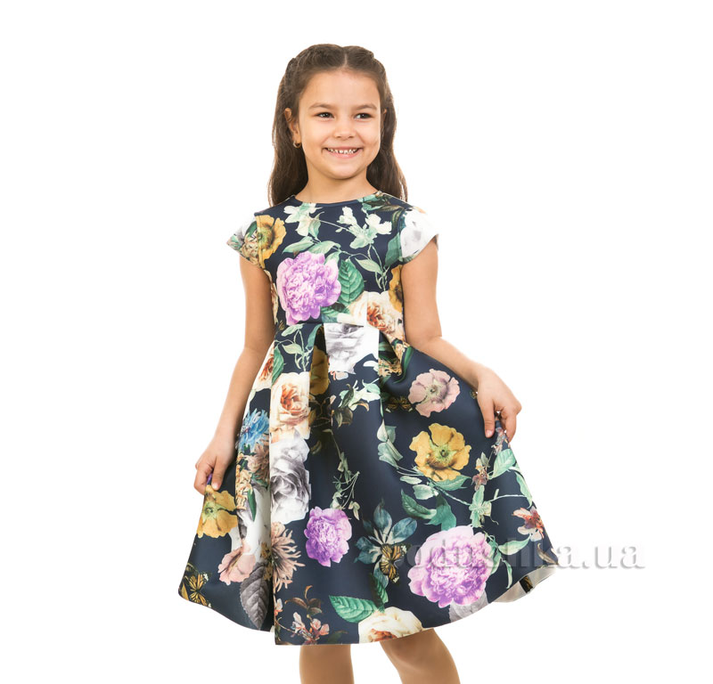 Платье Kids Couture Платье 1-001 синий цветы